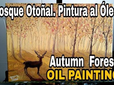 Cómo pintar bosque en otoño ???? al óleo.