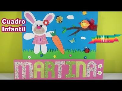 Cuadro infantil de goma eva para decorar una habitación
