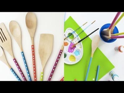 Decora tus Utensilios de Cocina de Madera con Mucho Color y Puntitos! | Live Colorful