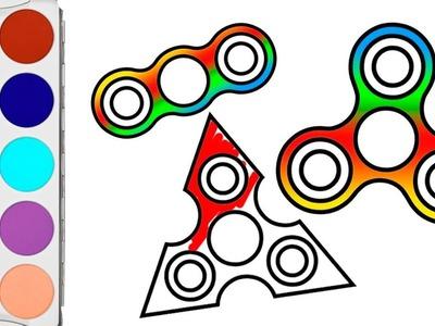 ???? DIBUJA Y COLOREA ???? Como dibujar y colorear un FIDGET SPINNER   Aprender Jugando