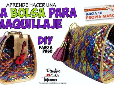 DIY BOLSA DE MAQUILLAJE - MOLDE GRATIS !!!????