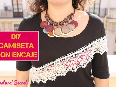 DIY Camiseta con encaje | DIY LACE T-SHIRT
