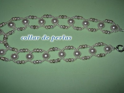 DIY - Collar facil de perlas de 4 tamaños -DIY - 4 sizes easy pearl necklace