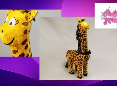 DIY. Como  hacer una hucha jirafa.Actividad para niños. How to make a giraffe moneybox.