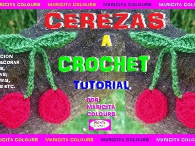 DIY. Cómo Tejer Cerezas a Crochet Tutorial por Maricita Colours