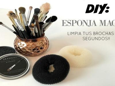 DIY: ESPONJA MAGICA | LIMPIA TUS BROCHAS EN 3 SEGUNDOS!! ESPONJA COLOR SWITCH