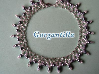 DIY - Gargantilla fácil con perlas grises DIY - Choker with gray pearls