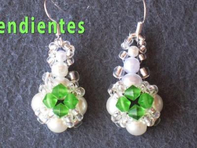 DIY - Pendientes de perlas y tupis -  DIY - Pearl Earrings and Tupi