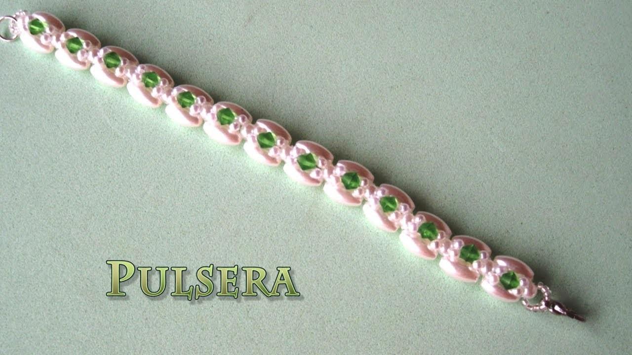 DIY - Pulsera de arroces, perlas y tupisDIY - Bracelet of rice, pearls and tupis