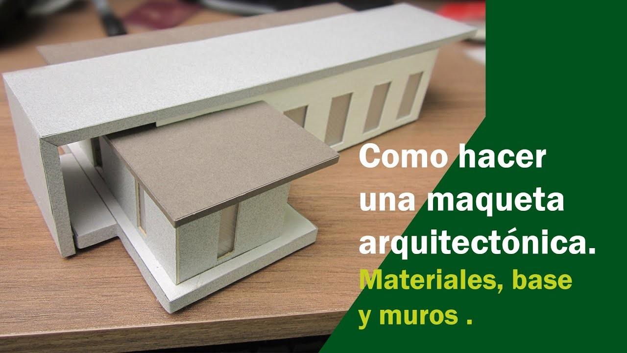 Elaboración de maqueta arquitectónica parte 4.
