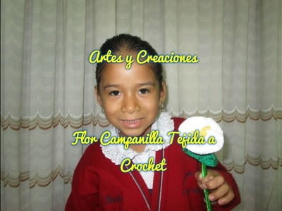 FLOR CAMPANILLA TEJIDA A CROCHET