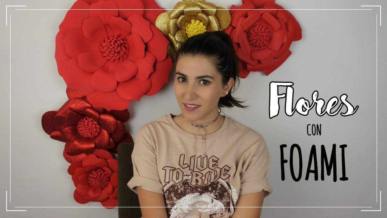 Flores con foami