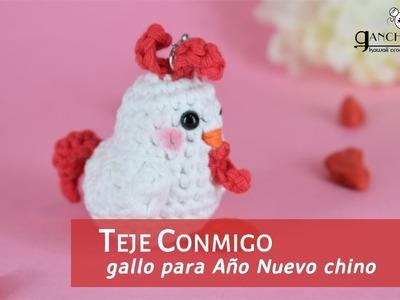 Gallo a ganchillo (???? ¡Feliz año del gallo! ???? - Año Nuevo chino)