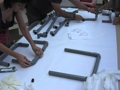 Hamaca de baño con tubo de PVC