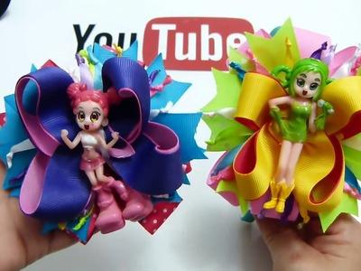 Hermosos moños de colores para Niñas. Moños para Niña Temático Anime