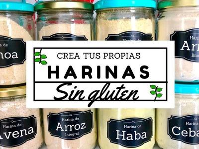 ¡CREA TUS PROPIAS HARINAS EN CASA! OPCIONES SIN GLUTEN -Transición Vegana