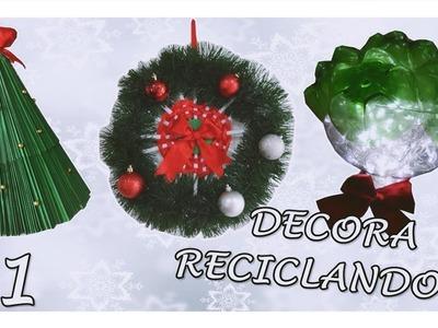 IDEAS DE NAVIDAD CON MATERIALES RECICLABLES (Especial de Navidad #1)- Amada Princesa