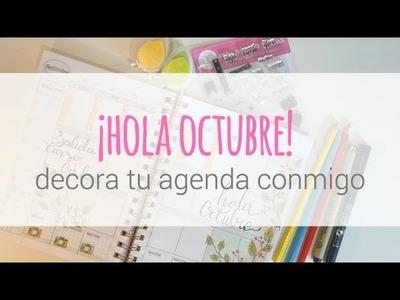 ¡Decora tu agenda conmigo! Semana del 25 de septiembre. Plan with me