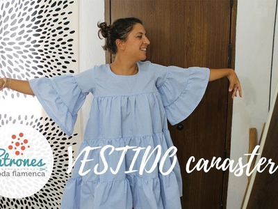 Inspiración flamenca - Tutorial vestido canastero.