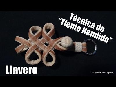 """Llavero con tiento hendido """"El Rincón del Soguero"""""""