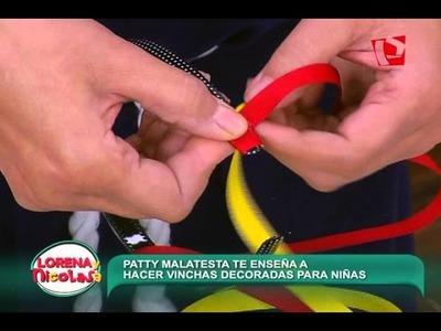 Lorena y Nicolasa: aprende a decorar vinchas con cinta para niñas