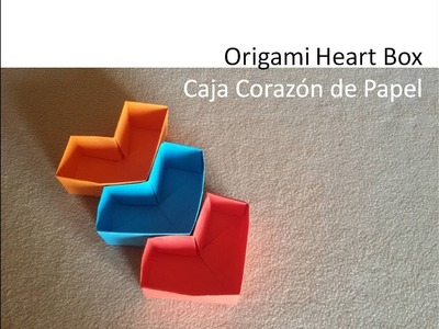 #Origami Heart Box - Papiroflexia Caja Corazón Papel DIY