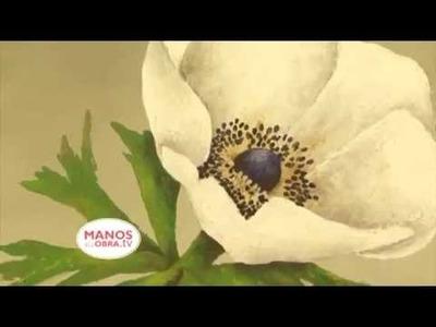 (Pintura Decorativa) Como pintar una flor con Espatula y Acrilicos profesionales?
