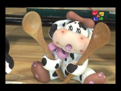 Pintura Decorativa Reloj de Vaca-PARTE 1-TALENTO ARTESANO