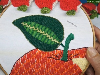 [Puntada Fantasía] Hoja - Manzana | Un Mundo Maravillisa