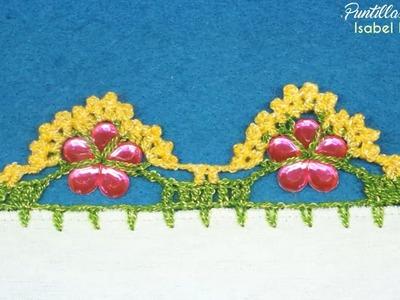 Puntilla 23 | Flores de aplicación | Puntillas Maribel
