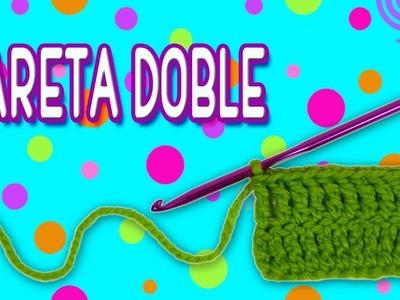 Punto alto Doble o Doble Vareta tejido a crochet  | PASO A PASO