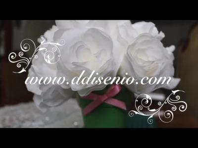 Rosas de filtro para adornos