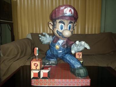 Super Mario Bros brawl PaperCraft 55 cm