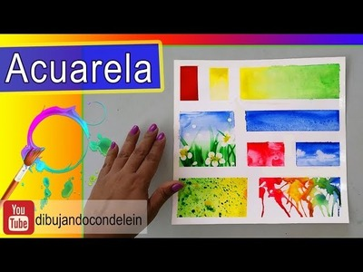 Técnicas Básicas para Acuarela ( Watercolor)