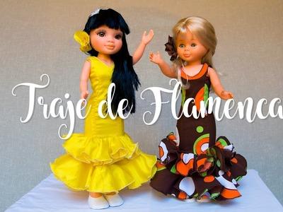 Traje de flamenca para muñeca Nancy-laly y su cana-Tutorial-Visita nuestra web http:.www.isapc.es