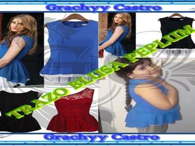 Trazo de blusa peplum