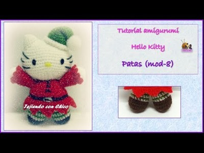 Made by K - Tutorials: Hello Kitty Granny Square Scarf Crochet Pattern | 300x400
