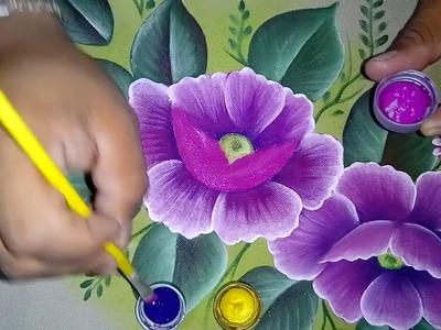Tutorial de pintura textil. Pintando amapola.