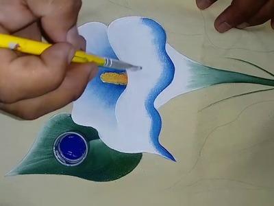 Tutorial de pintura textil. Pintando Alcatraz.