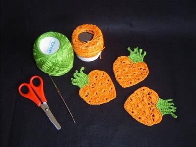 Zanahoria en crochet paso a paso tutorial DIY