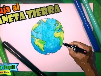 Aprende a dibujar el planeta tierra con colores, globo terraqueo