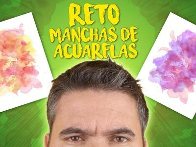 ART CHALLENGE - EL RETO DE SACAR UN DIBUJO DE UNA MANCHA DE ACUARELA - Drawing Challenge