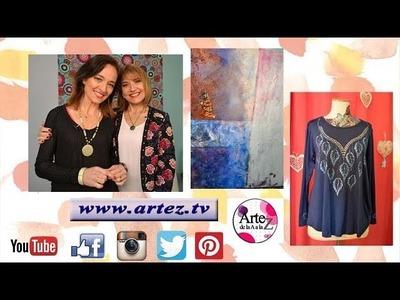 ArteZ TV programa 24 #Pintura sobre tela #Adhesivo Textil #Foil Laminador #Texturas #Fondos #Cuadros