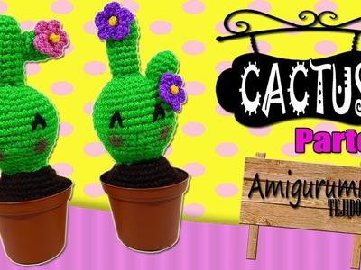 Cactus tejido a crochet ????amigurumi    parte 1.2