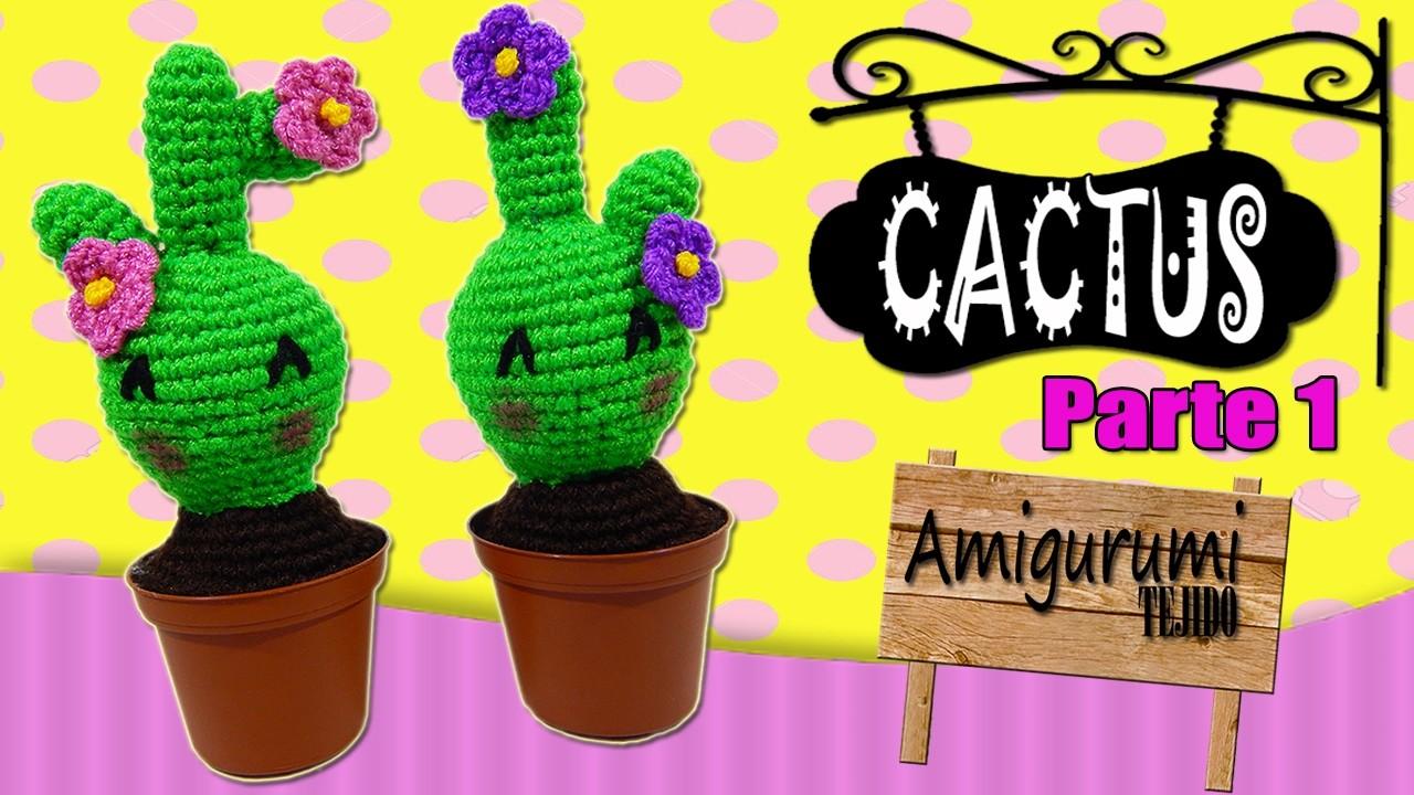 Cactus tejido a crochet ????amigurumi  | parte 1.2