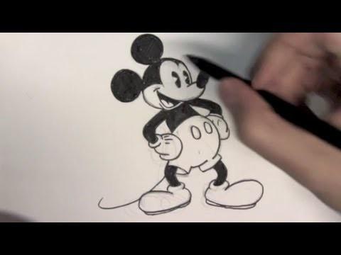 Cómo dibujar a Mickey Mouse - Dibujos para Pintar