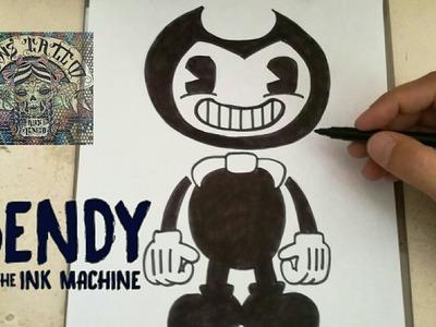 COMO DIBUJAR A BENDY Y LA MAQUINA DE TINTA. how to draw bendy