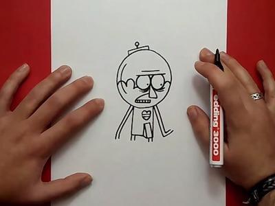 Como dibujar a Benson paso a paso 2 - Un show mas | How to draw Benson 2 - Regular show