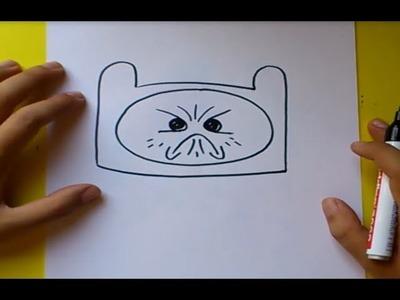 Como dibujar a Finn paso a paso 10 - Hora de aventuras | How to draw Finn 10 - Adventure time