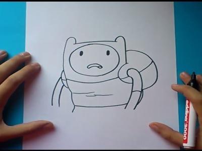 Como dibujar a Finn paso a paso 11 - Hora de aventuras | How to draw Finn 11 - Adventure time